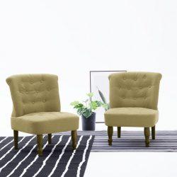 zöld szövetkárpitozású francia szék