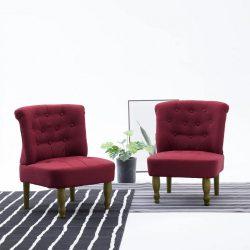 2 db bordó szövetkárpitozású francia szék