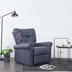 szürke művelúr dönthető szék