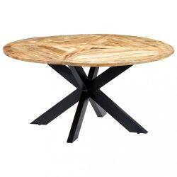kerek tömör mangófa étkezőasztal 150 x 76 cm