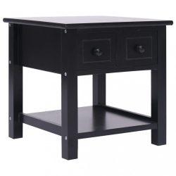 fekete császárfa kisasztal 40 x 40 x 40 cm