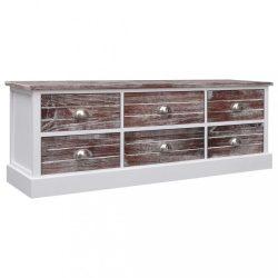 barna fa TV-szekrény 115 x 30 x 40 cm