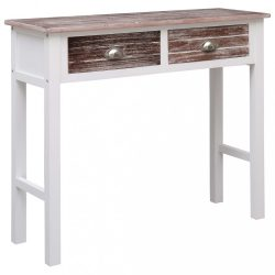 barna fa tálalóasztal 90 x 30 x 77 cm