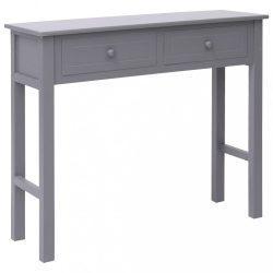 szürke fa tálalóasztal 90 x 30 x 77 cm