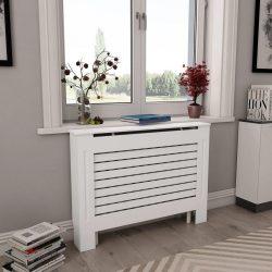 fehér MDF radiátorburkolat 112 x 19 x 81,5 cm