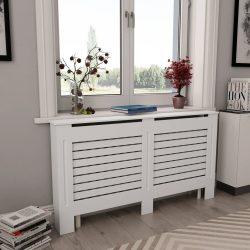 fehér MDF radiátorburkolat 152 x 19 x 81,5 cm