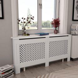 fehér MDF radiátorburkolat 172 x 19 x 81,5 cm