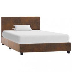 barna művelúr ágykeret 90 x 200 cm