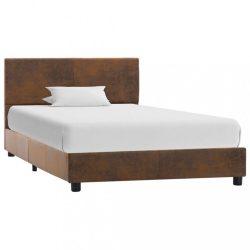 barna művelúr ágykeret 100 x 200 cm