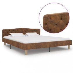 barna művelúr ágykeret 180 x 200 cm