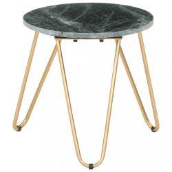 zöld márvány textúrájú valódi kő dohányzóasztal 40 x 40 x 40 cm