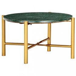 zöld márvány textúrájú valódi kő dohányzóasztal 60 x 60 x 35 cm