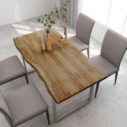 tömör akácfa étkezőasztal 160 x 80 x 76 cm