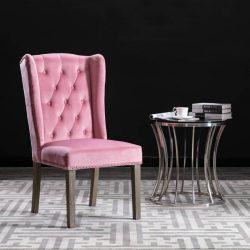 rózsaszín bársony étkezőszék