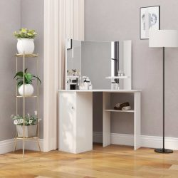 fehér sarok-fésülködőasztal