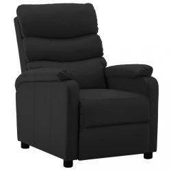 fekete műbőr dönthető fotel