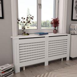 2 db fehér MDF radiátorburkolat 172 x 19 x 81,5 cm