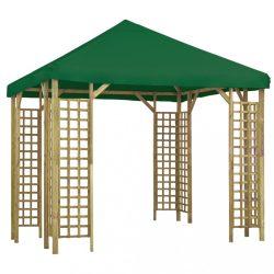 zöld pavilon 3 x 3 m