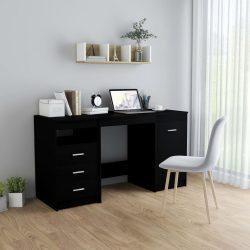 fekete forgácslap íróasztal 140 x 50 x 76 cm