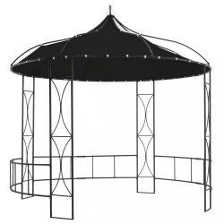 antracitszürke kerek pavilon 300 x 290 cm