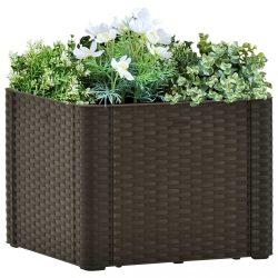 mokkaszínű kerti magaságyás öntözőrendszerrel 43 x 43 x 33 cm