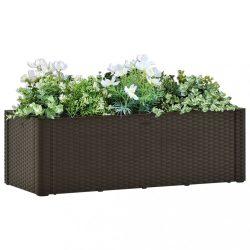 mokkaszínű kerti magaságyás öntözőrendszerrel 100 x 43 x 33 cm