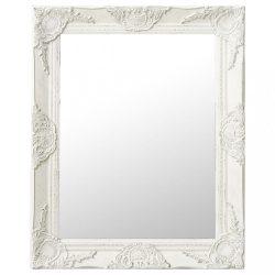 fehér barokk stílusú fali tükör 50 x 60 cm