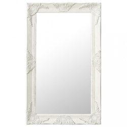 fehér barokk stílusú fali tükör 50 x 80 cm