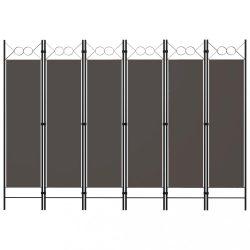 antracitszürke 6 paneles paraván 240 x 180 cm