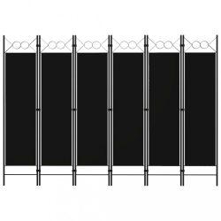 fekete 6 paneles paraván 240 x 180 cm