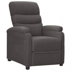 sötétszürke szövet dönthető fotel