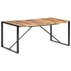 paliszander felületű tömör fa étkezőasztal 180 x 90 x 75 cm