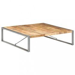 nyers mangófa dohányzóasztal 140 x 140 x 40 cm