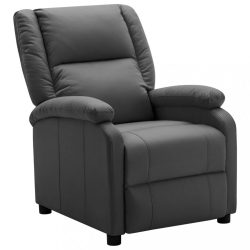 antracitszürke műbőr dönthető fotel