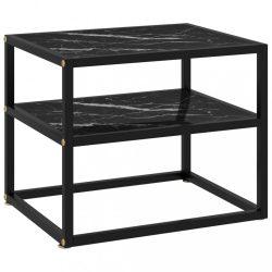 fekete edzett üveg tálalóasztal 50 x 40 x 40 cm