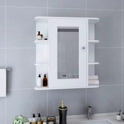 fehér MDF tükrös fürdőszobaszekrény 66 x 17 x 63 cm