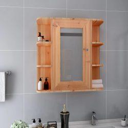 tölgyszínű MDF tükrös fürdőszobaszekrény 66 x 17 x 63 cm