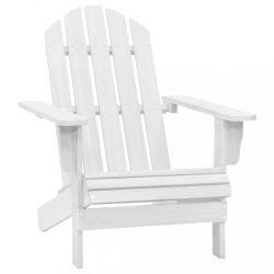 fehér fa kerti szék