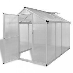 megerősített alumínium üvegház alapkerettel 4,6 m2