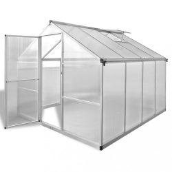 megerősített alumínium üvegház alapkerettel 6,05 m2