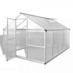 megerősített alumínium üvegház alapkerettel 7,55 m2