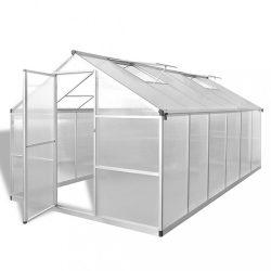 megerősített alumínium üvegház alapkerettel 9,025 m2