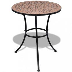 terrakotta mozaik bisztró asztal 60 cm