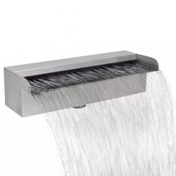 Négyszögletes rozsdamentes acél medence szökőkút 30 cm
