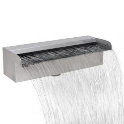Szögletes rozsdamentes acél vízesés medence szökőkút 30 cm
