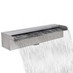 Négyszögletes rozsdamentes acél medence szökőkút 45 cm