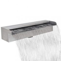Szögletes rozsdamentes acél vízesés medence szökőkút 45 cm