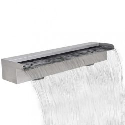 Szögletes rozsdamentes acél vízesés medence szökőkút 60 cm