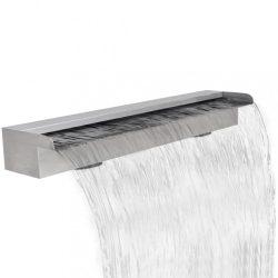 Négyszögletes rozsdamentes acél medence szökőkút 90 cm
