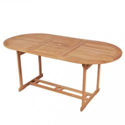 tömör tíkfa kerti asztal 180 x 90 x 75 cm